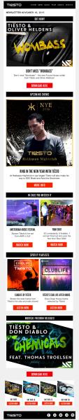 Tiesto 2015-11-10 Mail Magazine
