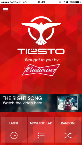 Brand New Tiesto App (iOS & Android) 2016 (1)
