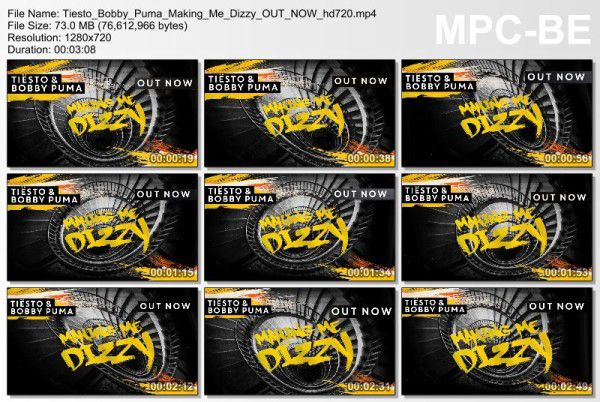 Tiesto And Bobby Puma - Making Me Dizzy (WEB) (2016) Video
