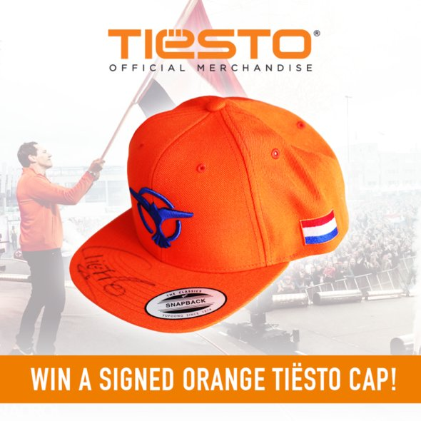 Win a signed orange Tiesto cap! (2016)