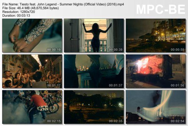 Tiesto feat. John Legend - Summer Nights (Official Video) (2016) Video
